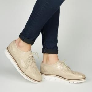 White Mountain Gold Praise Metallic Oxford Shoes